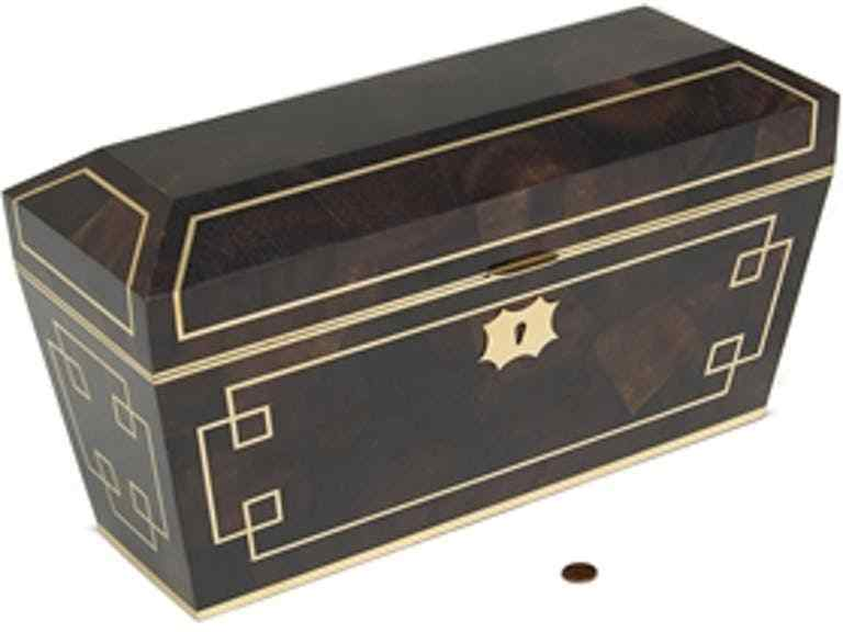 Maitland-Smith 8127-11 Brown Penshell Inlaid Box Polished Brass Retired Item
