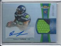 ROBERT TURBIN 2012 TOPPS FINEST REFRACTOR RPA 2 COLOR PATCH AUTO RC #D /1353