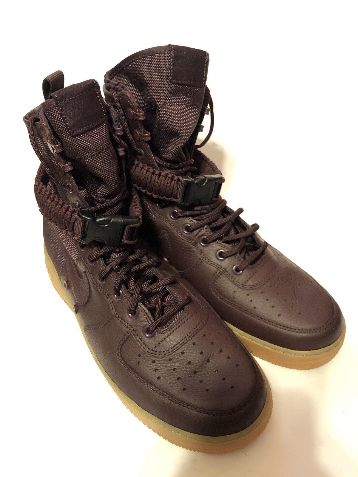 NIB Nike Special Field SF AF1 Air Force 1 864024-600 Deep Burgundy Men Size 11.5