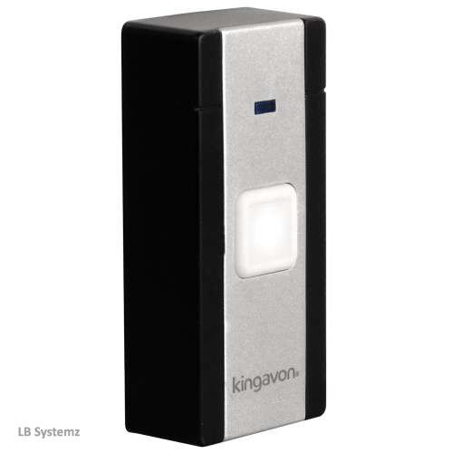 Kingavon Wireless Cordless Door Bell with LED light and 20 Melodies DC118