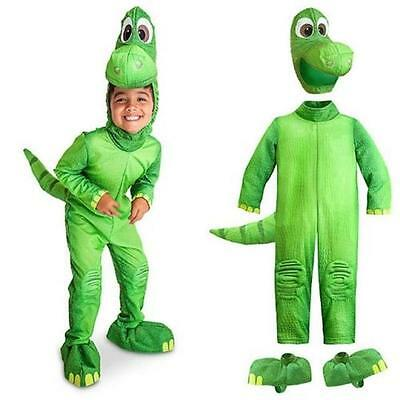 DISNEY Store Arlo la buona Dinosauro Costume Vestire Ragazzi Halloween peluche verde | eBay