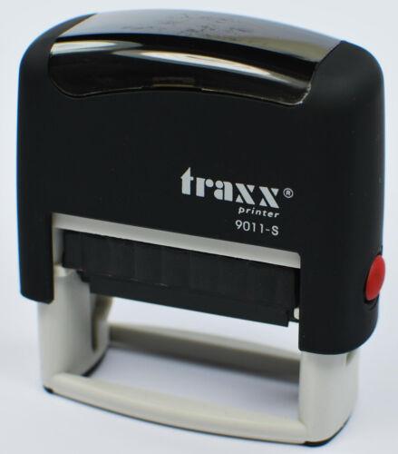 BüroStempel AdressStempel TextStempel Stempel  bis 3 Zeilen 14x38 mm schwarz Neu
