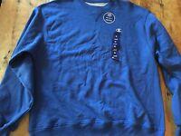 Champion double Dry Crew Neck Sweatshirt Blue Lg