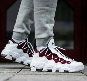 af70ae2c15a0d Image is loading NIKE-AIR-MORE-MONEY-White-Black-Team-Red-