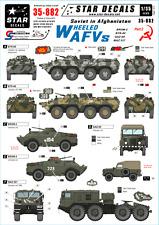 Star calcomanías 35-882. calcomanías para soviética en Afganistán # 2. ruedas de vehículos de combustible alternativo: Btr-80 & Otros