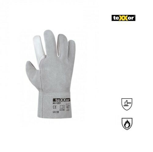 Rindvoll Spaltleder Handschuh YASUR texxor 1201 Größe 10 Arbeitshandschuhe Leder