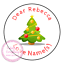 Personalised-Christmas-Sticker-Father-Xmas-Santa-Reindeer-Sweet-Cone-Gift-Hamper thumbnail 5