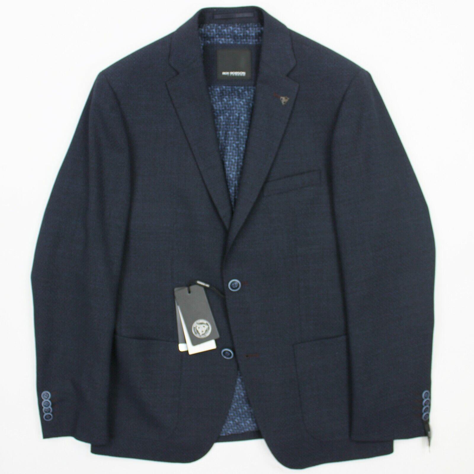 Roy Robson-Azul Marino  Tejido Mezcla De Lana Blazer - 50 UK40 -  el mejor servicio post-venta