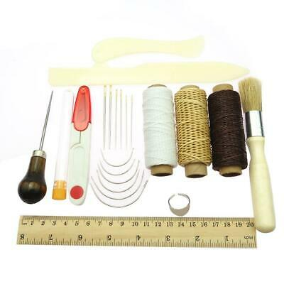 26Pc*Bookbinding Kit Starter Tools Set Bone Folder Paper Waxed Thread Sewing Set