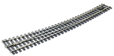 Code 124 O Gauge Peco SL-E786BH Curved Turnout Right Hand Electrofrog