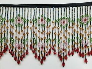 5-TO-5-5-034-LONG-BEADED-FRINGE-TRIM-EXCELLENT-QUALITY-new