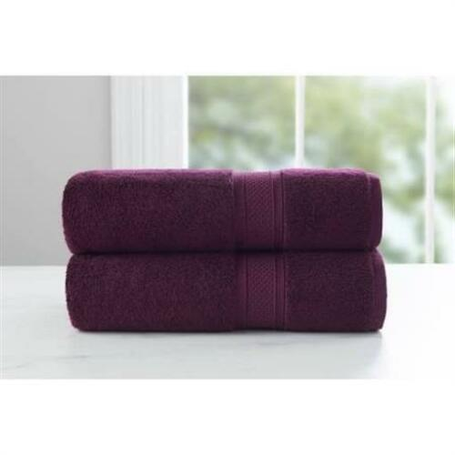 Purple Oxford Baltic Linen Luxury Rayon from Bamboo 2 Piece Bath Towel set