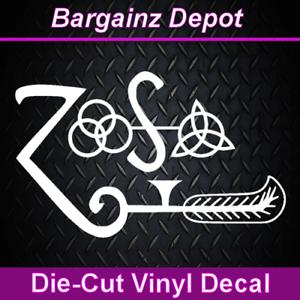 Band Symbols ZOSO Music Car Laptop Sticker Vinyl Decal .. LED ZEPPELIN IV ..