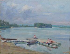 Badende-am-See-Impressionist-um-1920-signiert