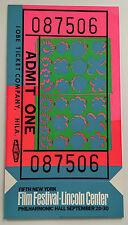vintage ANDY WARHOL 1967 New York Film Festival Lincoln Center silkscreen poster