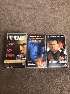Steven-Seagal-Collection-Bundle-Joblot-5-Films-On-4-X-Vhs-Tapes