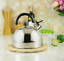 2L Wasserkessel Flötenkessel Teekessel Pfeifkessel aus Edelstahl Induktion NEU