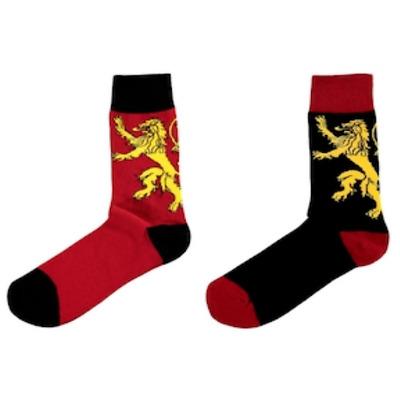 NEW Game Of Thrones Unisex Crew Socks Lannister Targaryen Stark Tier 2 or 6 Pack