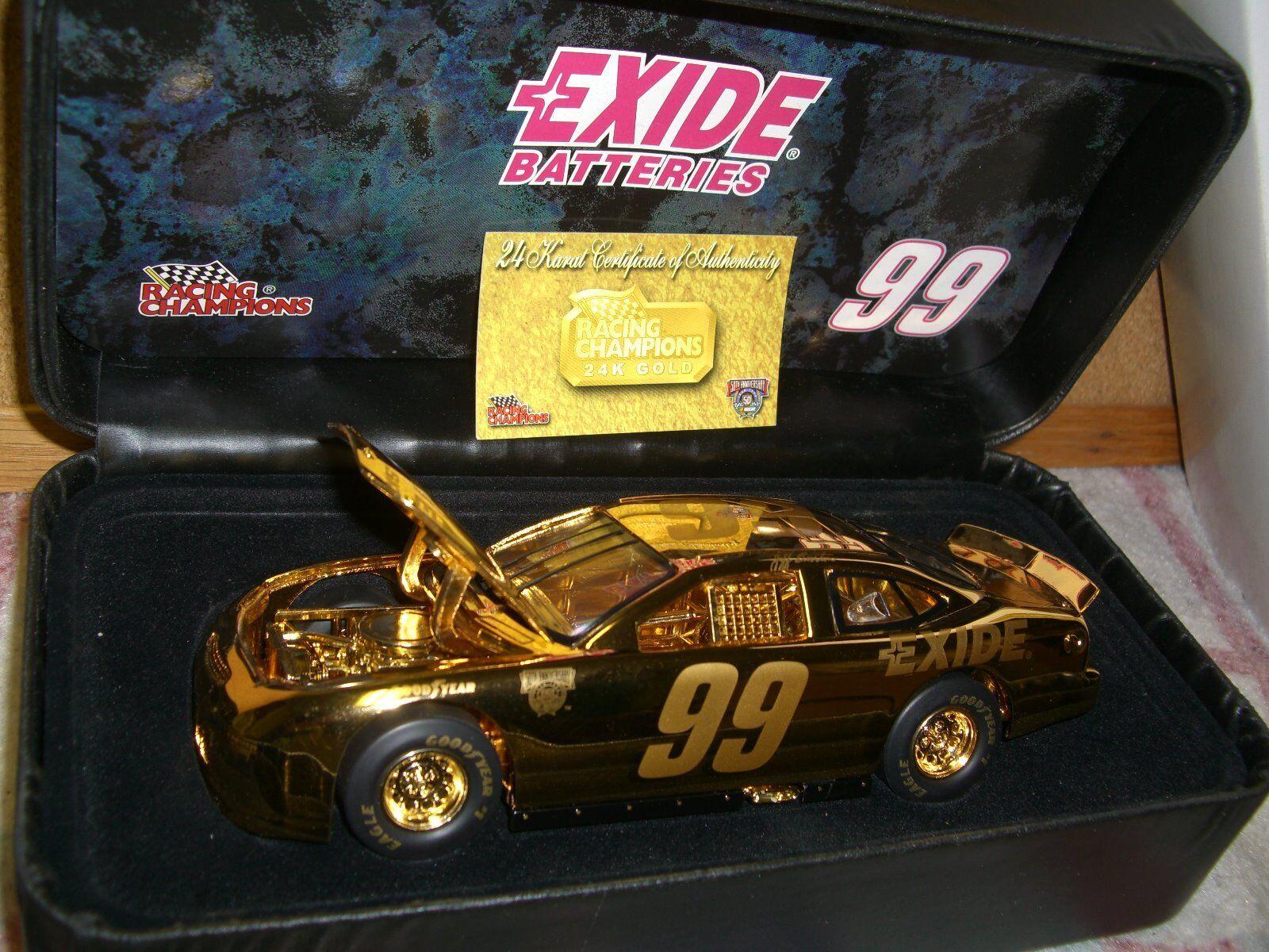 ahorrar en el despacho Racing Champions Champions Champions  99 Exide 1998 Ford Taurus-reflexiones en oro-oro 1 24...  calidad garantizada