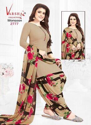 Only Dress Material Salwar Kameez Unstitched Crepe Punjabi Suit Indian Synthetic