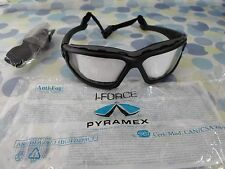 Pyramex I-Force Safety Glasses Goggles Dual Pane Anti-Fog High Impac STSB7010SDT