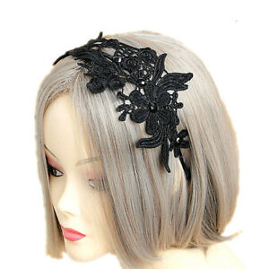 Details About Charm Gothic Lace Flower Simple Headband Handmade Hairband Hair Accessories