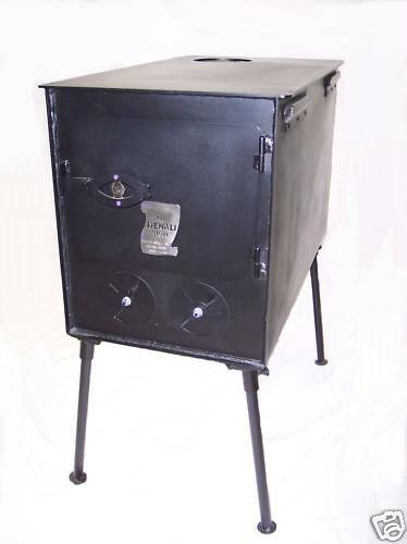 NEW  Heavy-Duty Wood Stove for Outfitter Canvas Wall Tent Camping