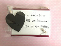 Customised Wedding Countdown Plaque Sign Chalkboard Engagement Gift Present