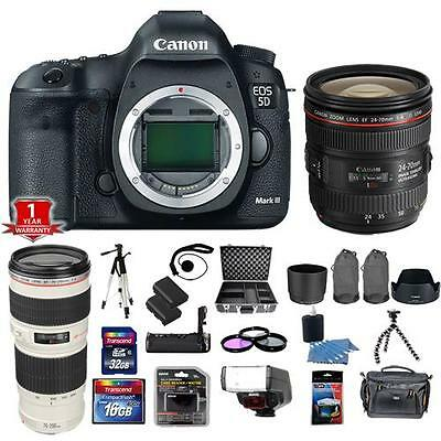 Canon EOS 5D Mark III / MK3 DSLR Camera with 24-70mm + 70-200mm 4L USM Pro Kit