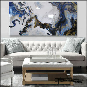 Details About Abstract Painting Modern Canvas Wall Art Large Resin Framed Us Eloisexxx