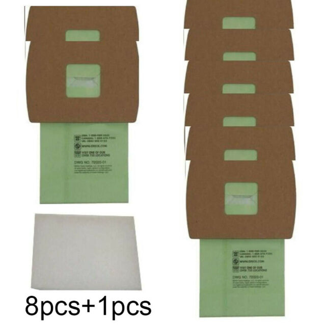 Dust Bag Motor Filter Kits For Oreck Super-Deluxe Compact PKBB12DW Replacement