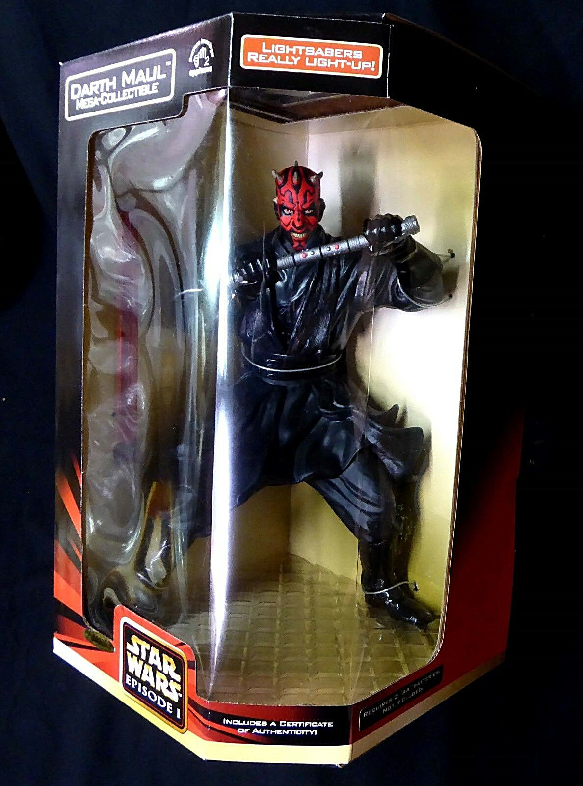Star Wars Darth Maul 12  Inch Inch Inch Electronic Mega-Collectible Action Figure New 379c56