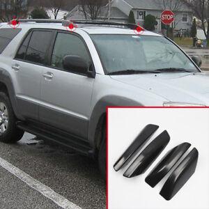 Black Roof Rails Rack End Cover Shell 4pcs For Toyota 4Runner N210 2003-2009