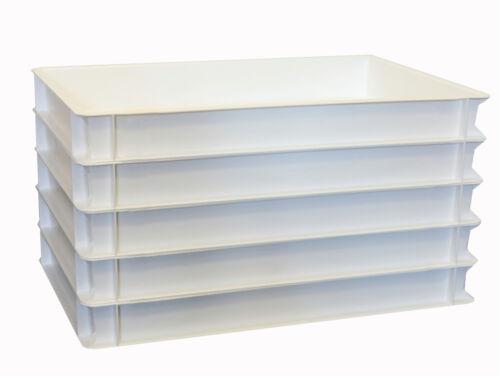 5 Stück Pizzaballenboxen 60 x 40 x 7 cm weiß eco Gastlando