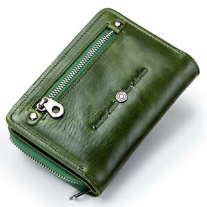 Women-Genuine-Leather-Wallet-Trifold-Card-Holder-Accordion-Front-Pocket-Purse