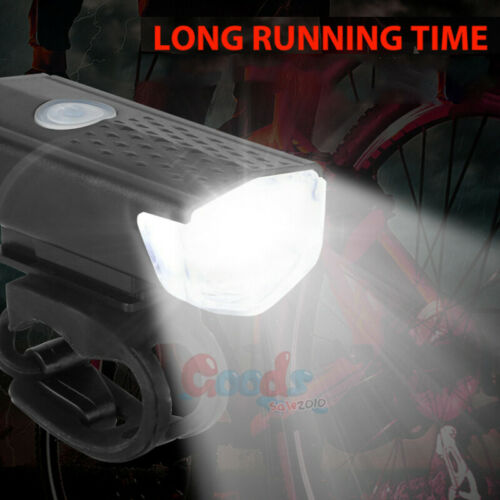 2X 90000 Lumen 8.4V Rechargeable Cycling Light Bike Bicycle LED Front Rear Lamp
