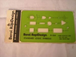 "R-980 Berol Rapidesign Template Old English Lettering Guide 3//8/"" Upper Case"