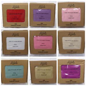 100-Organic-Cotton-Bed-Sheet-Set-Queen-Size-600-Thread-15-039-039-Deep-Pocket-Sheet