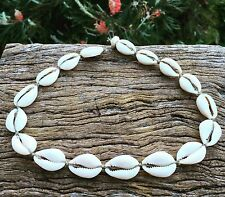 Hand Made Hemp Macrame Choker Necklace with Cowrie Shells, Bohemian Sea Gypsy