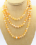 On sale 8//10mm naturel Brésil Jaune Jade Perles rondes Collier 36//50//70//80//100/""