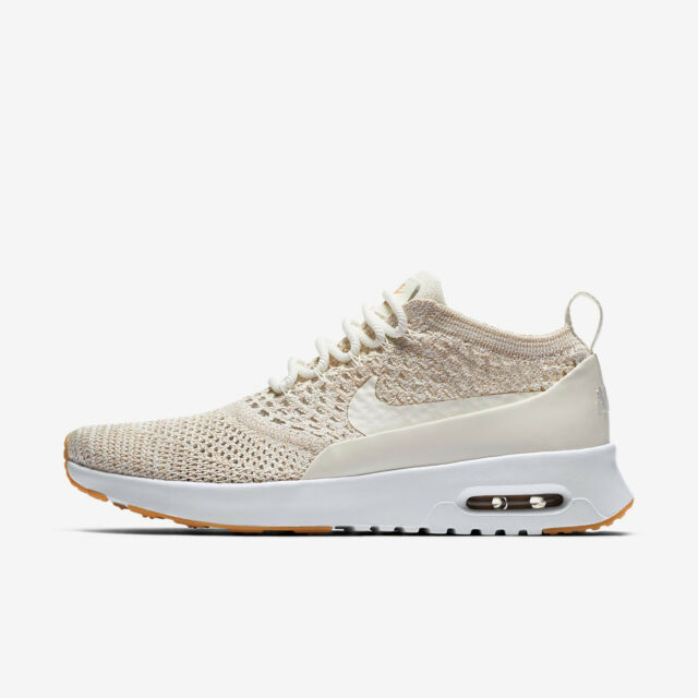 NIKE WOMEN'S AIR MAX THEA ULTRA FLYKNIT SHOES sail white 881175 102 MSRP $150