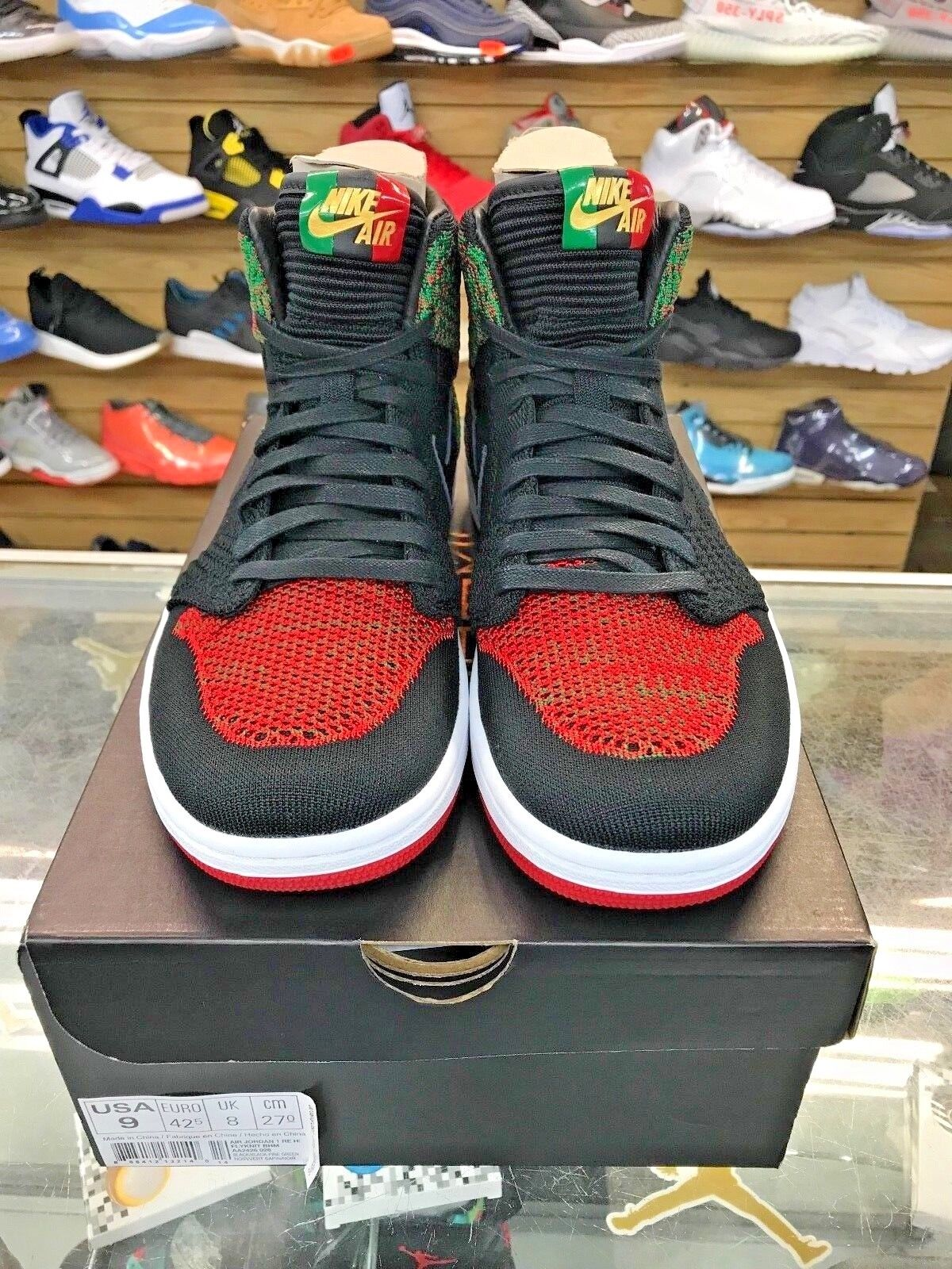 MENS AIR JORDAN 1 RETRO HI FLYKNIT OG