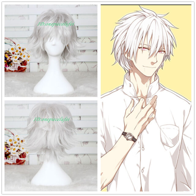 Free shipping Dramatical Murder DMMD Clear Short Silver White Cosplay Full Wig