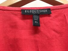Eileen Fisher XS S PM PS PP GREY CORAL FUCHSIA PINK Linen Viscose Stretch Dress