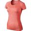 NIKE-Dri-FIT-Knit-Short-Sleeve-Women-039-s-Running-Top-718569-696-Small thumbnail 1