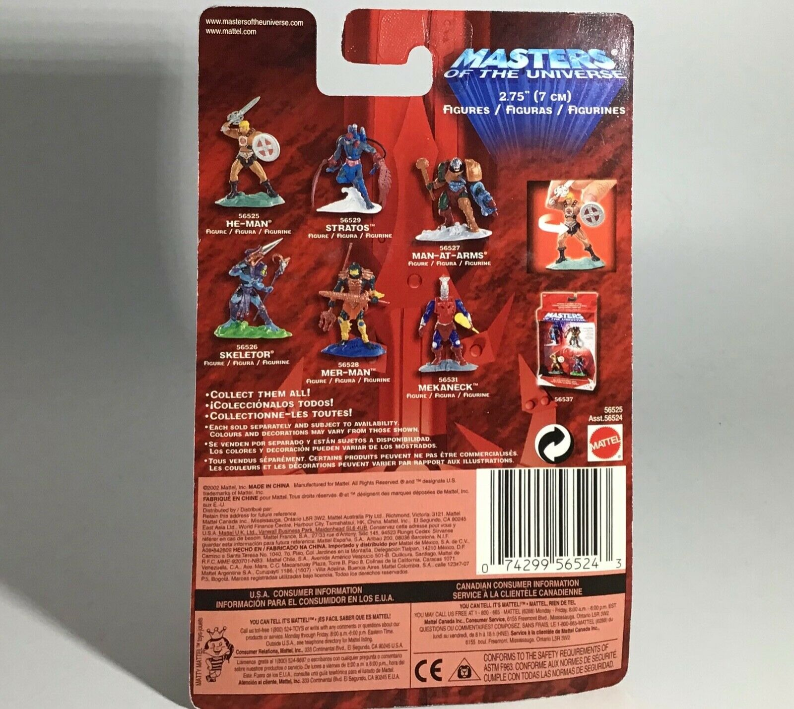 Jungle Attack He-Man 2002 Maîtres de l/'univers Masters of the Universe Mattel Comme neuf on Card 200x