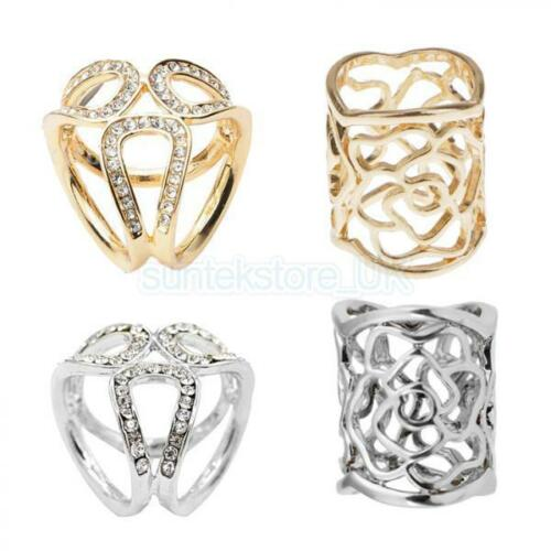 4pcs Fashion Scarf Ring Buckle Scarf Clip Triple Slide Jewelry Clothing Accs