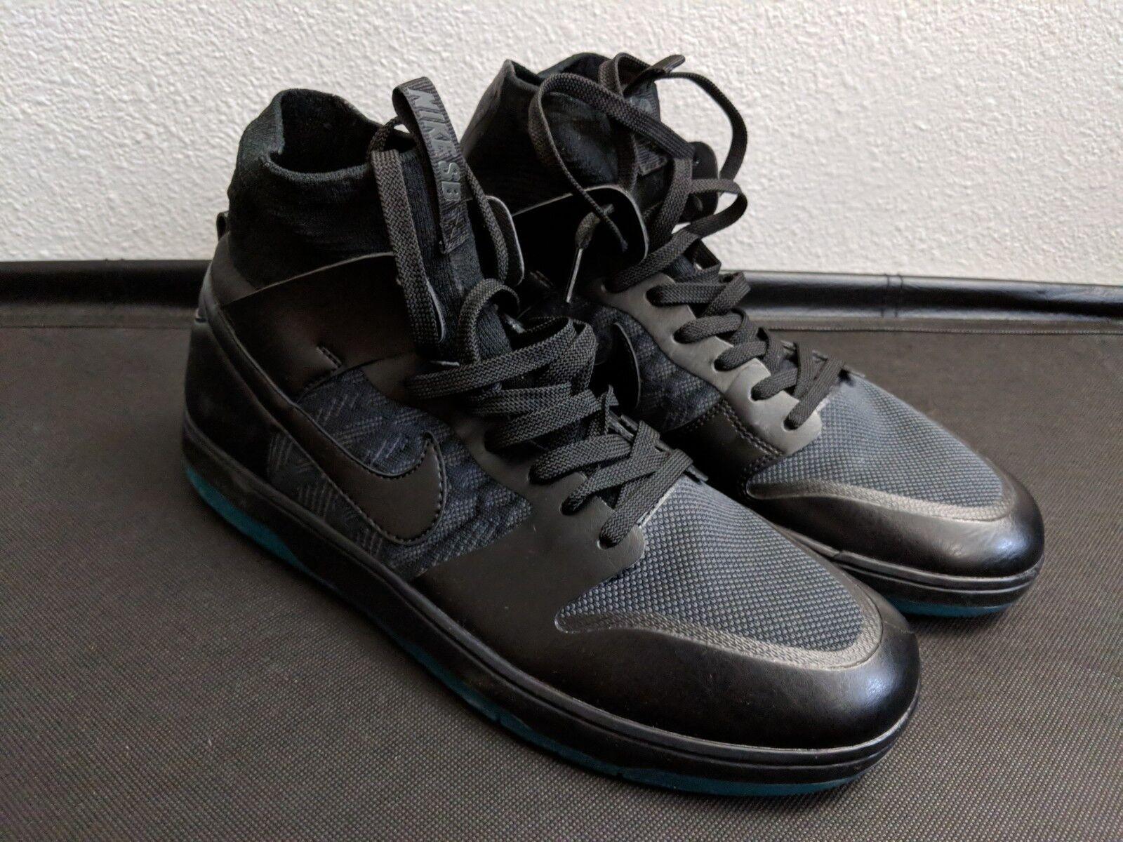 Nike dunk sb - hohe elite männer sz zehn teal schwarze / atomic teal zehn 917567-003 msrp 130 3d1a48