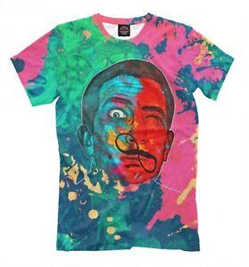 colorful image abtraction nice print art Salvador Dali face t-shirt