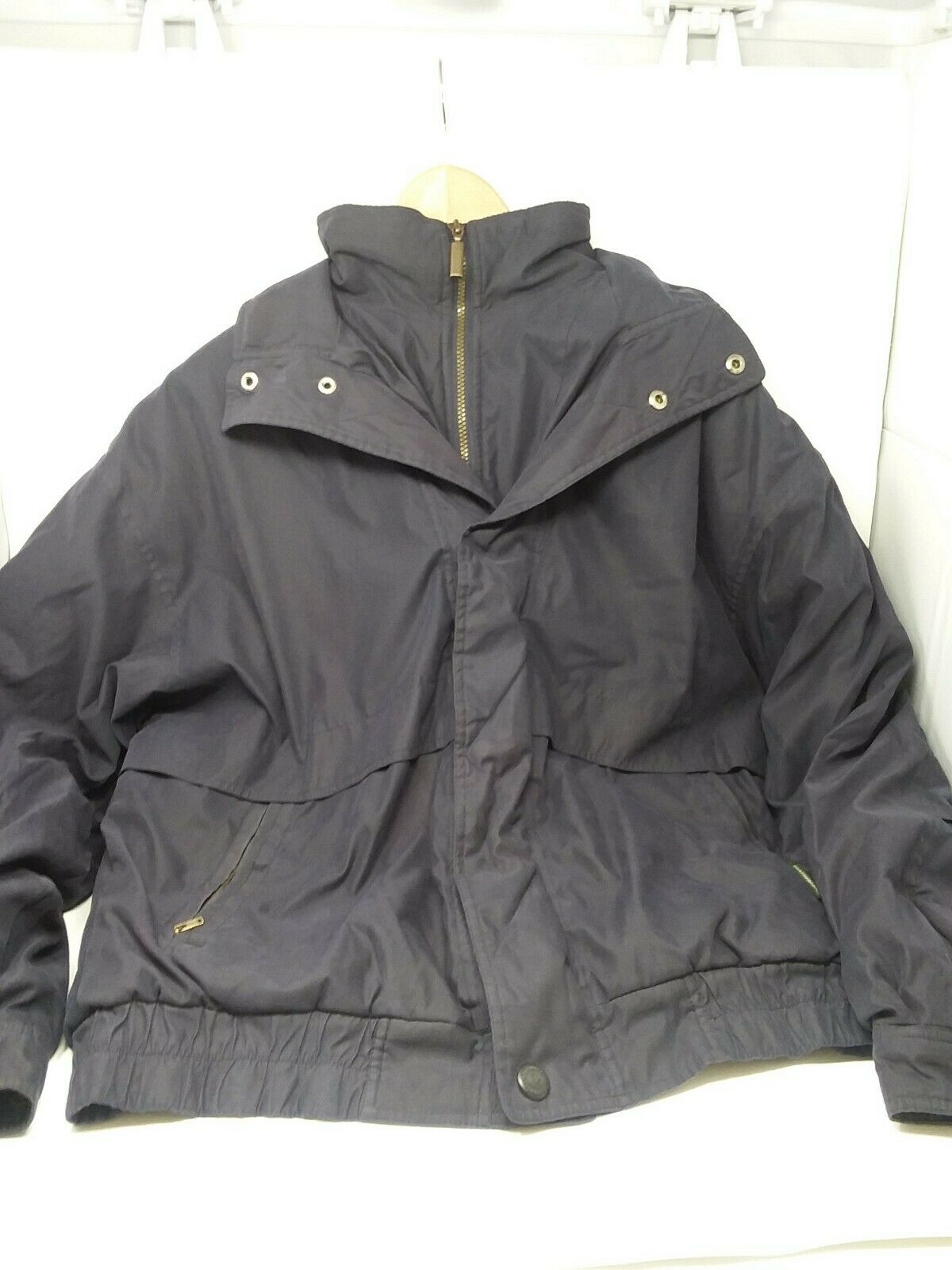 cae9f15e64 Men's bluee Navy Weatherproo Zip Up Hooded Coat With Fleece Lining Size  Large